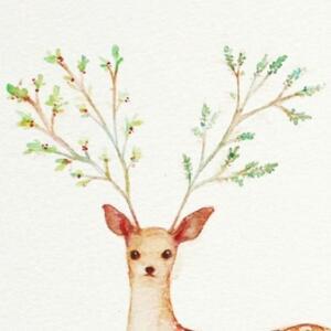麋鹿角手绘简笔画