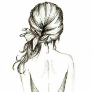 发型图片素描画_女神网今年最流行的发型女中背影长发发型图片