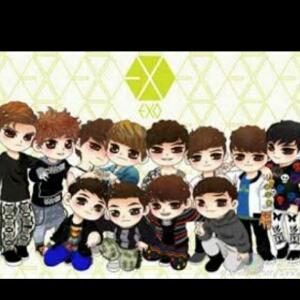 exo萌图手绘12人