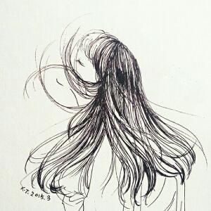 简笔画 手绘 围巾 线稿