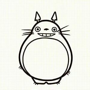龙猫简笔铅笔画