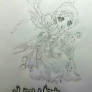 梧桐树马克笔手绘