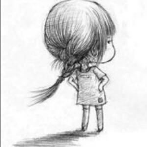 素描美人鱼图片简单款幼儿园小朋友画
