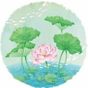 红莲白藕青荷叶